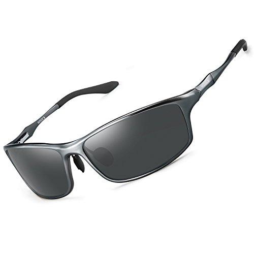 SOXICK Polarized Sunglasses for Men Women - Adjustable Metal Frame Driving Glassses (Grey-6688-3, 2.5)