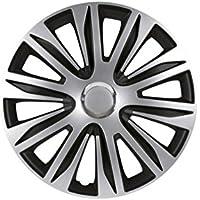 PETEX RB547515 Radzierblendenset Nardo, doppelt lackiert ABS, Silber, Größe 15 Zoll, Set of 4