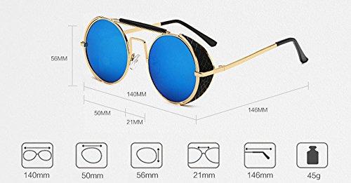 Hellomiko Sunglasses protectrices Retro femmes Double lunettes Beam Non soleil UV400 Marron Vintage hommes polarized pour et de Or rrwgxZqfA