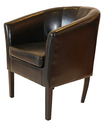 Sofa Club Chair - Home Life Armen Linon Black Sofa Arm Club Chairs Bicast Leather Finish Home Life