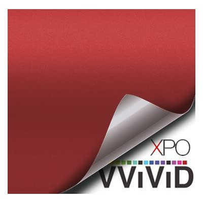 VViViD Matte Blood Red Vinyl Wrap Roll with XPO Air Release Technology (1ft x 5ft): Automotive