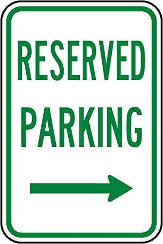 (VinMea Personalized Metal Signs for Outdoors Reserved Parking (Right Arrow) Sign Aluminum Sign 8