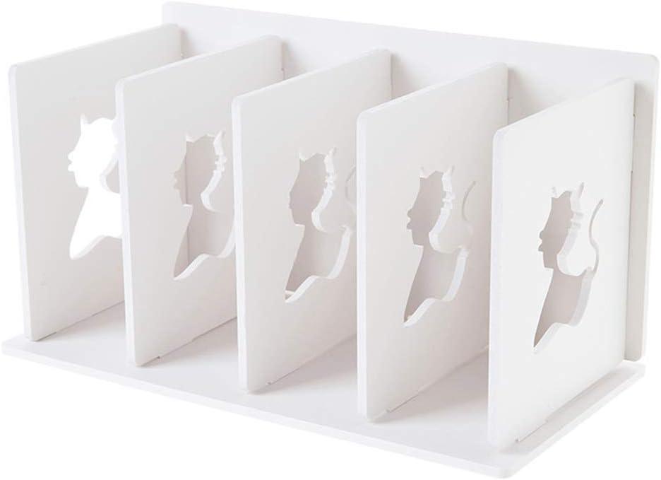 Small Bookshelf for Desktop Storage, Mini Narrow Desk White Ladder Organizers for Women, Kids, Men for Office Decor Accessories (book shelf)