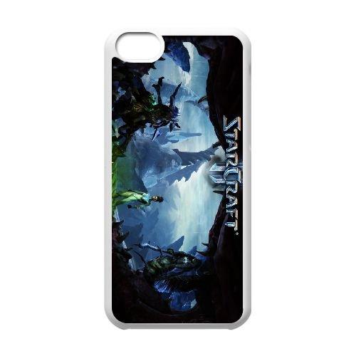 Starcraft Ii Heart Of The Swarm coque iPhone 5c cellulaire cas coque de téléphone cas blanche couverture de téléphone portable EEECBCAAN00985