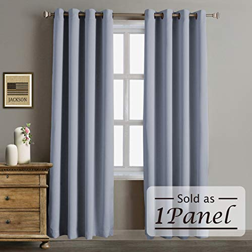 Panel 84l (Rose Home Fashion RHF Blackout Thermal Insulated Curtain - Antique Bronze Grommet Top for Living Room,Grommet Curtain, 1 Panel, 52W by 84L Inches-Grey)
