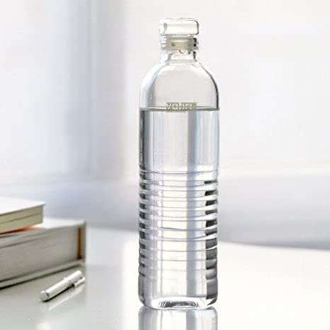 2bd79b52724 Vatiri Handmade Portable Clear Glass Water Bottle