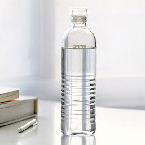 Vatiri Handmade Portable Clear Glass Water Bottle 500ml