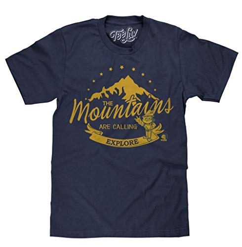 Tee Luv Woodsy Owl Explore T-Shirt - Navy Blue Heather Woodsy Owl Shirt (Small)