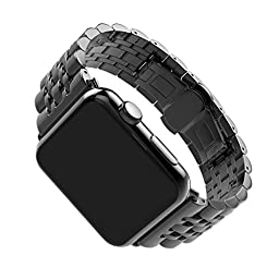 For Apple iWatch Band 42MM, Rosa Schleife Apple Watch Band Stainless Steel Strap Wristband with Metal Clasp Classic Buckle Wrist Watch Strap Bracelet for Apple Watch Sport & Edition (Not Fit 38mm)