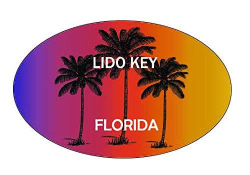 Lido Key Florida Trendy Souvenir Oval Decal