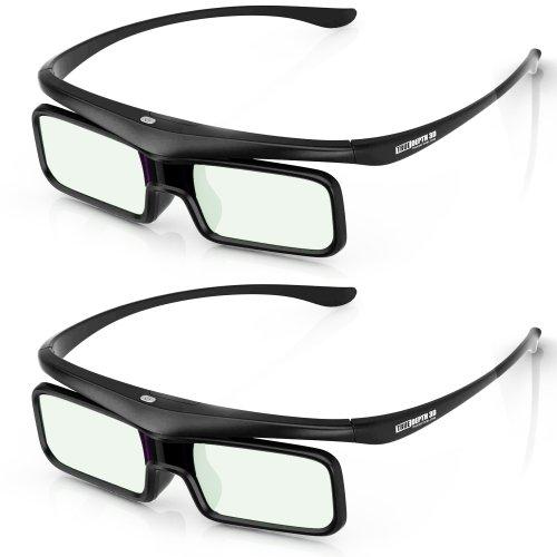 True Depth 3D Firestorm BT Glasses for Bluetooth Panasonic 3D TVs (2012-2013 and Beyond) 2 Pairs!