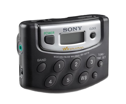 Sony SRF-M37W Walkman Digital Tuning Weather/FM/AM Stereo Radio (Black)
