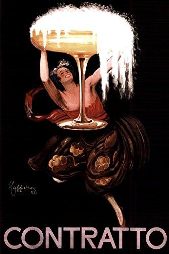 Leonetto Cappiello Contratto Sparkling Wine Art Print Poster