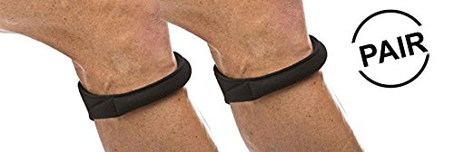 Cho-Pat Original Knee Strap (Pair) - Recommended by Doctors to Reduce Knee Pain - Black (Large, 14.5
