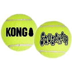 KONG Air Dog Squeakair Dog Toy Tennis Balls, X-Small, 3-Pack