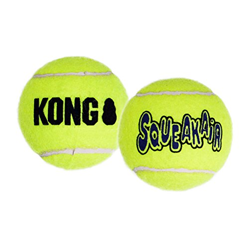- KONG Air Dog Squeakair Dog Toy Tennis Balls, Medium, 3-Pack