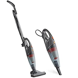 vonhaus stick vacuum cleaner 600w corded 2 in 1 upright handheld vac with lightweight design. Black Bedroom Furniture Sets. Home Design Ideas