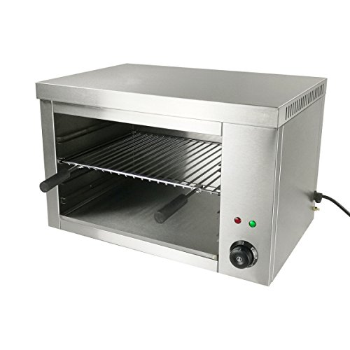 Infrared Broiler - Countertop Commercial Electric Salamander Broilers 2200W Stainless Steel 22.4x15.3x14.5 inch