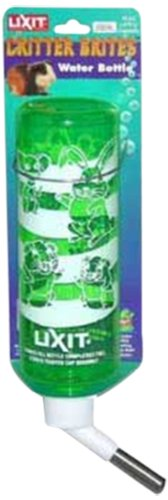 Critter Brite 8 Oz Bottle - Lixit Assorted Critter Brites Deluxe Hamster Bottle, 8-Ounce