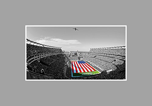 Gillette Stadium - Football Touch of Color - 36x20 Matte Poster Print Wall Art TOC