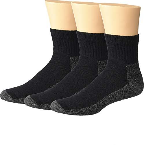 Wigwam Men's At Work Quarter 3-Pack Black X-Large - Wigwam Quarter Socks