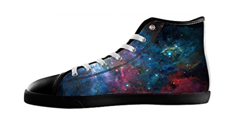 Dalliy Galaxie Katze Galaxy Cat Mens Canvas shoes Schuhe Lace-up High-top Footwear Sneakers D