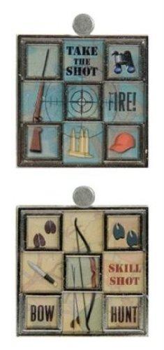 Karen Foster Design Hunting Mosaic Charms, 2-Piece
