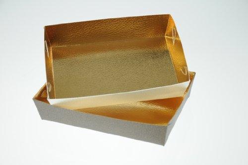 Gebäckschale braun+weiß 16x11x3,5 cm - 10 Stück - 5 je Farbe