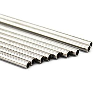 NW 20 piezas 2,5 x 18,5 mm tubo de acero inoxidable hueco ...