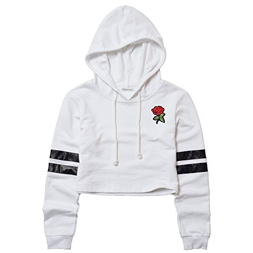 Rose Cropped Hoodie for Women