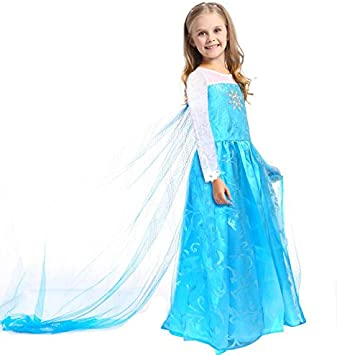 CoolChange Disfraz de Elsa de Frozen, Talla: hasta la 140: Amazon ...