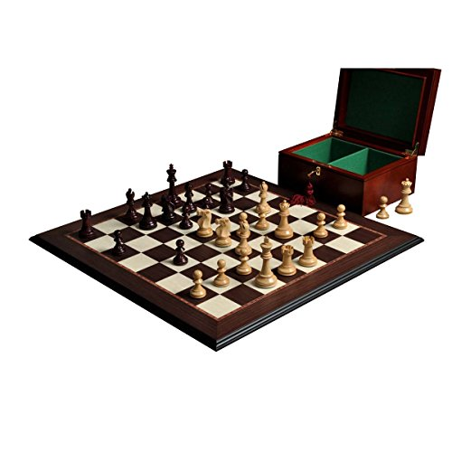 The Reykjavik II Series Chess Set, Box & Board Combination - Purpleheart Gilded