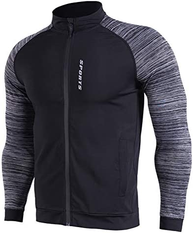 トレーニングを実行するための高弾性圧縮Tシャツと男性の長袖Tシャツ、ワークアウトクイックドライジャージー,2XL