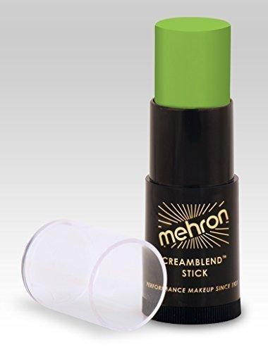 Mehron CreamBlend Stick OGRE GREEN .75 oz - Professional Cream Makeup Stick - Non Toxic]()