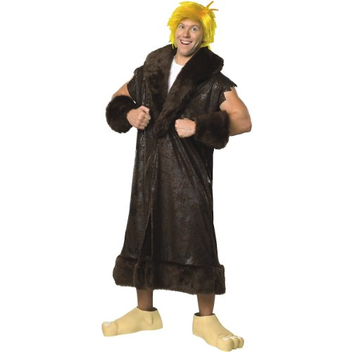 The Flintstone, Barney Rubble Costume With Wig And Shoe Covers, Black, Plus