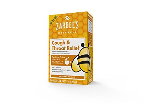 Zarbee's All-Natural Cough & Throat Relief Daytime Drink Packets Extra Strength Apple Spice 6 EA - Buy Packs and SAVE (Pack of 3)
