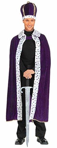 King Purple Robe and Crown Set Costume Mens Standard