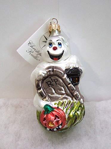 Christopher Radko FRIGHT D'LIGHT Blown Glass Ornament Halloween Ghost -