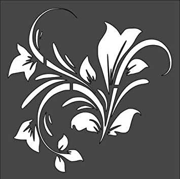 amazon com stencils for painting design swirl leaf plant flower 5 5