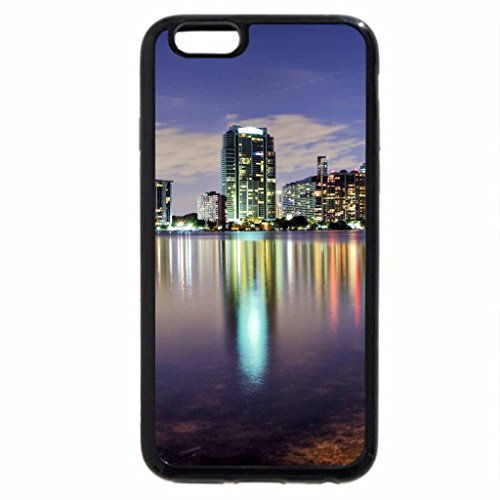 iPhone 6S / iPhone 6 Case (Black) evening over miami cityscape