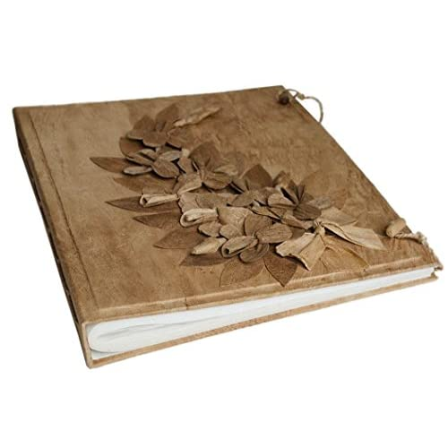 Life Arts Album Photo Flaura Très Grand Format Fait-main Naturel, Style Classique Pages (40cm x 33cm x 5cm)