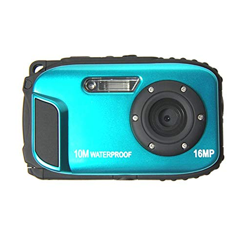 TOPmountain 2.7 Inch Waterproof Action Camera Hd Camera Portable 16Mp 8X Zoom Digital Camera Photo Dvr for Outdoor (Blue)