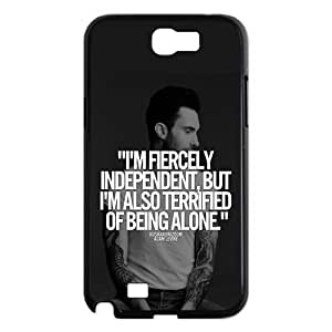 Adam Levine Quotes Samsung Galaxy Note II N7100 Case Cover Protecter - Retail Packaging - Durable Plastic