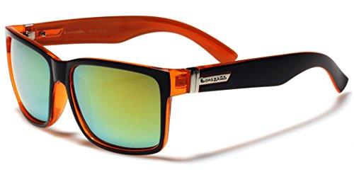 Square Mirror Lens Retro 80's Wayfarer Style - Biohazard Sunglasses