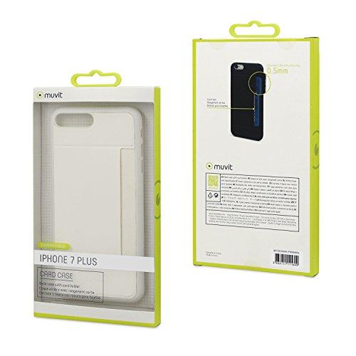 MUVIT Coque Case - Apple Iphone 7 Plus - Rangement carte - Blanc