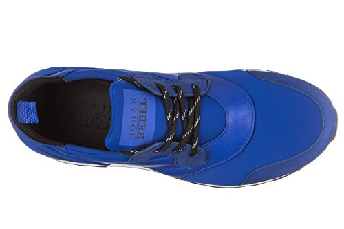 Hogan Rebel chaussures baskets sneakers homme en cuir r261 slip on allacciato bl