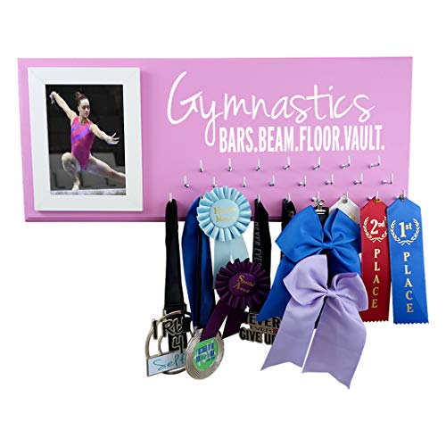- RunningontheWall Gymnastics Medal Holder, Gymnast Medal Rack Gymnastics Beam.Vault.Bars.Floor. Gymnastics Ribbon Rack, Gymnast Award Holder
