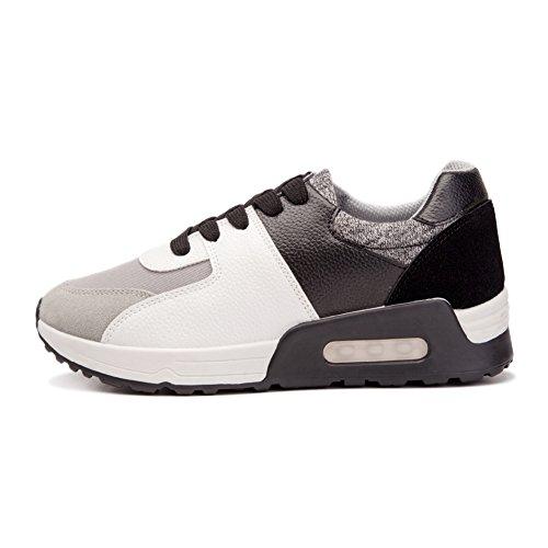 fereshte Womens Sport High Heel Run Shoes Black tTcuhn053f