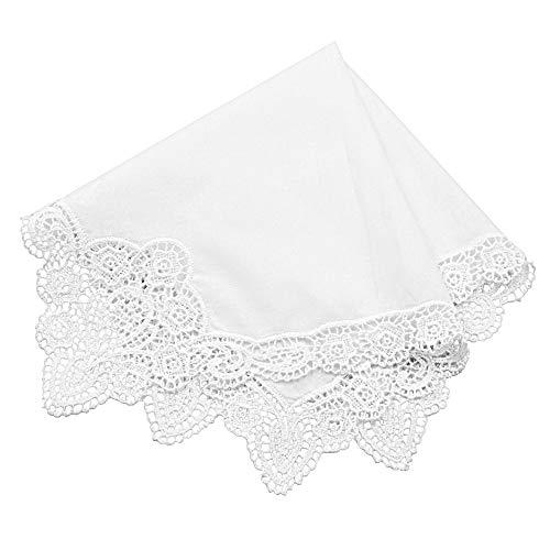 Groom Crochet - Milesky Bridal Wedding Crochet Lace Handkerchief premium 60S Cotton CH06B