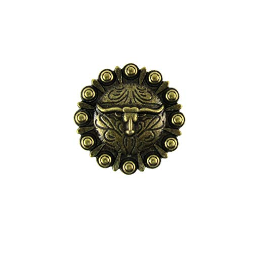 Gold Longhorn Steer Kitchen Drawer Pull Vanity Screw Knob Western Cabinet Hardware